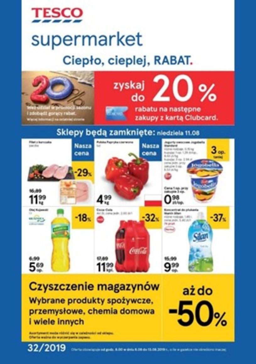 Gazetka promocyjna Tesco Supermarket - wygasła 5 dni temu
