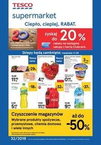 Gazetka promocyjna Tesco Supermarket - Ciepło, cieplej, RABAT  - ważna do 13-08-2019