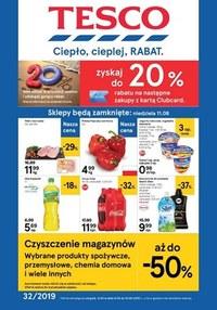 Gazetka promocyjna Tesco Centra Handlowe - Ciepło, cieplej, RABAT!  - ważna do 13-08-2019