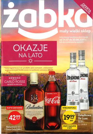 Gazetka promocyjna Żabka, ważna od 24.07.2019 do 20.08.2019.