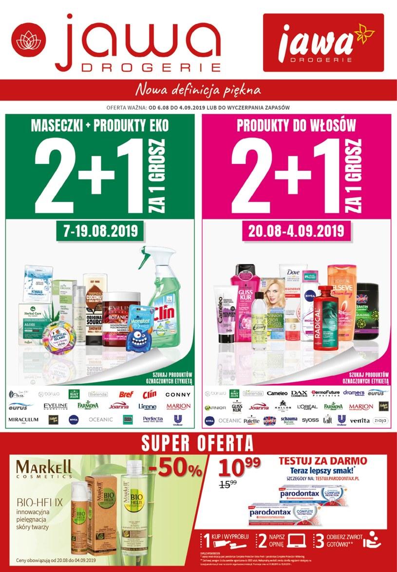 Gazetka promocyjna Jawa Drogerie - ważna od 06. 08. 2019 do 04. 09. 2019