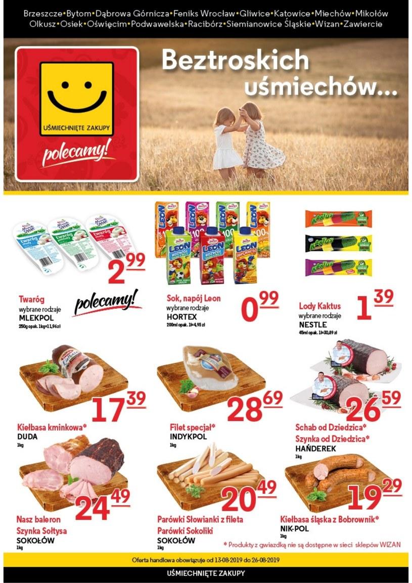 Gazetka promocyjna Uśmiechnięte zakupy - ważna od 13. 08. 2019 do 26. 08. 2019