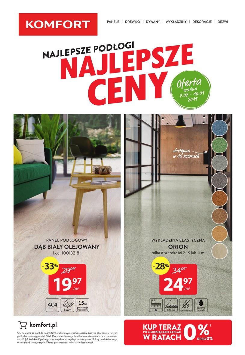 Komfort Gazetka Wyprzedaże Katalog Promocje Wykaz