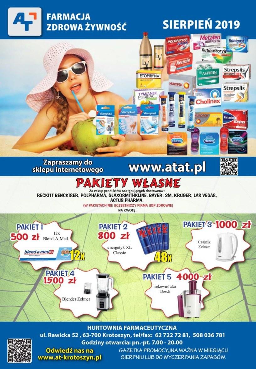 Gazetka promocyjna At - ważna od 01. 08. 2019 do 31. 08. 2019