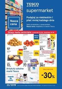 Gazetka promocyjna Tesco Supermarket - Podążaj za niebieskim  - ważna do 21-08-2019