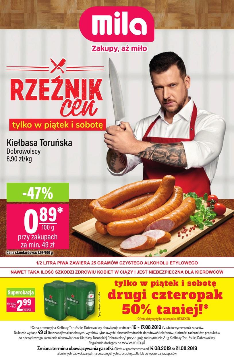 Gazetka promocyjna MILA - ważna od 14. 08. 2019 do 21. 08. 2019