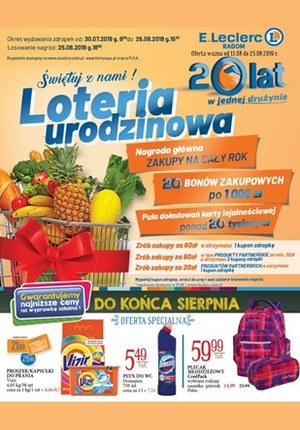 Gazetka promocyjna E.Leclerc, ważna od 13.08.2019 do 25.08.2019.
