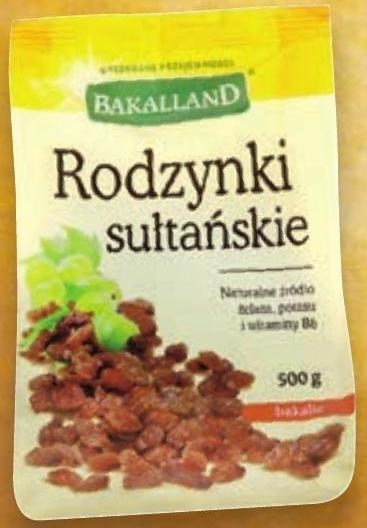 Rodzynki sułtańskie Bakalland niska cena