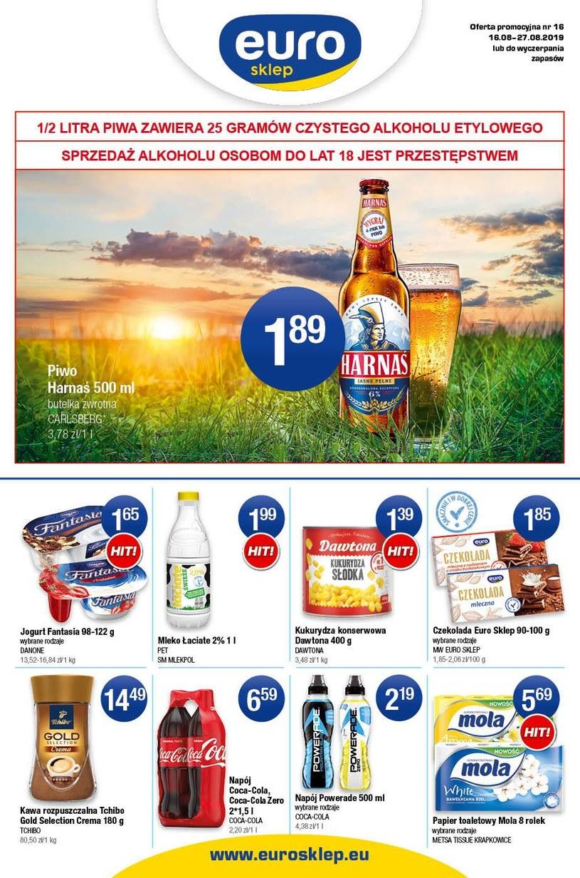 Gazetka promocyjna Euro Sklep - ważna od 16. 08. 2019 do 27. 08. 2019