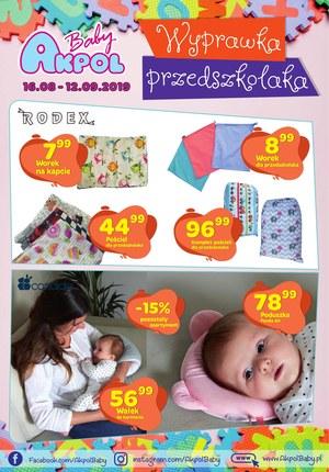 Gazetka promocyjna Akpol Baby, ważna od 16.08.2019 do 12.09.2019.