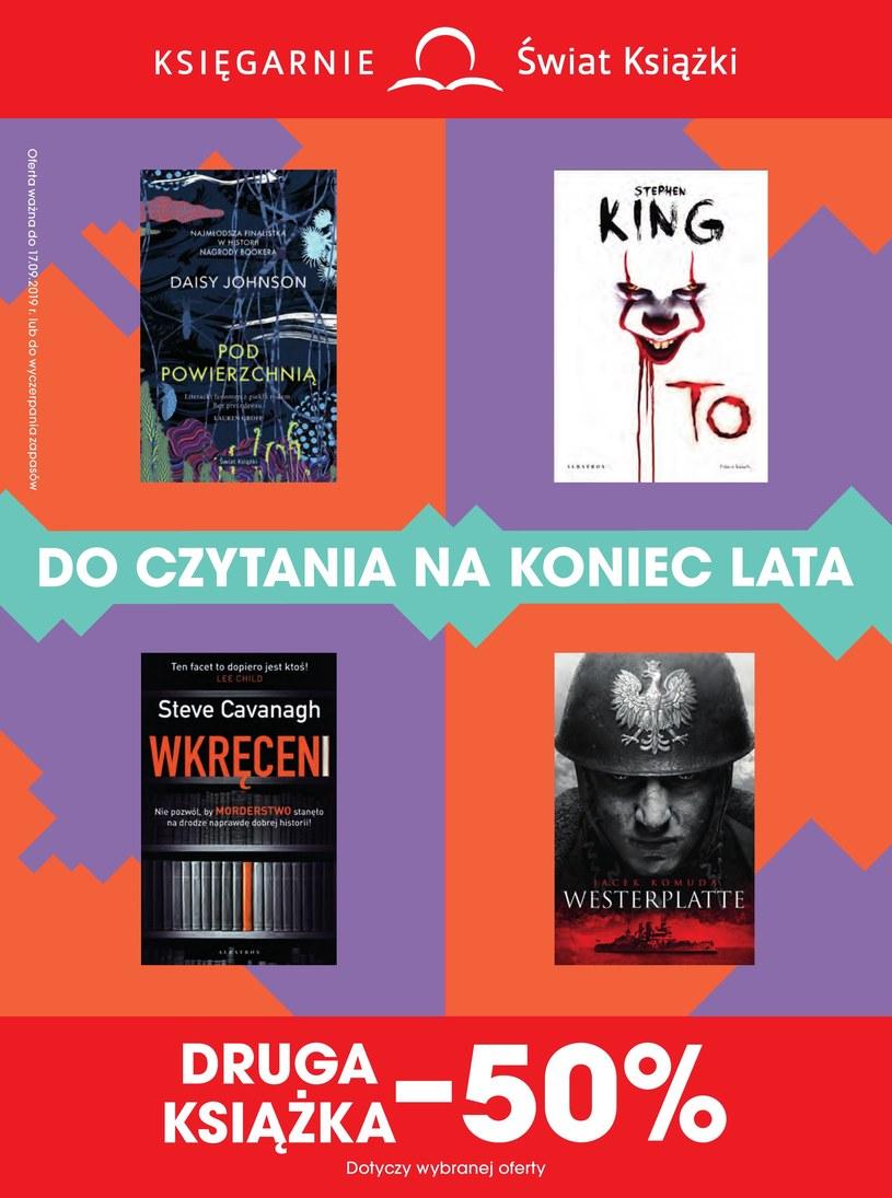 Gazetka promocyjna Księgarnie Świat Książki - ważna od 14. 08. 2019 do 17. 09. 2019