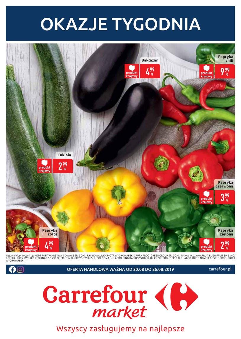 Gazetka promocyjna Carrefour Market - ważna od 20. 08. 2019 do 26. 08. 2019