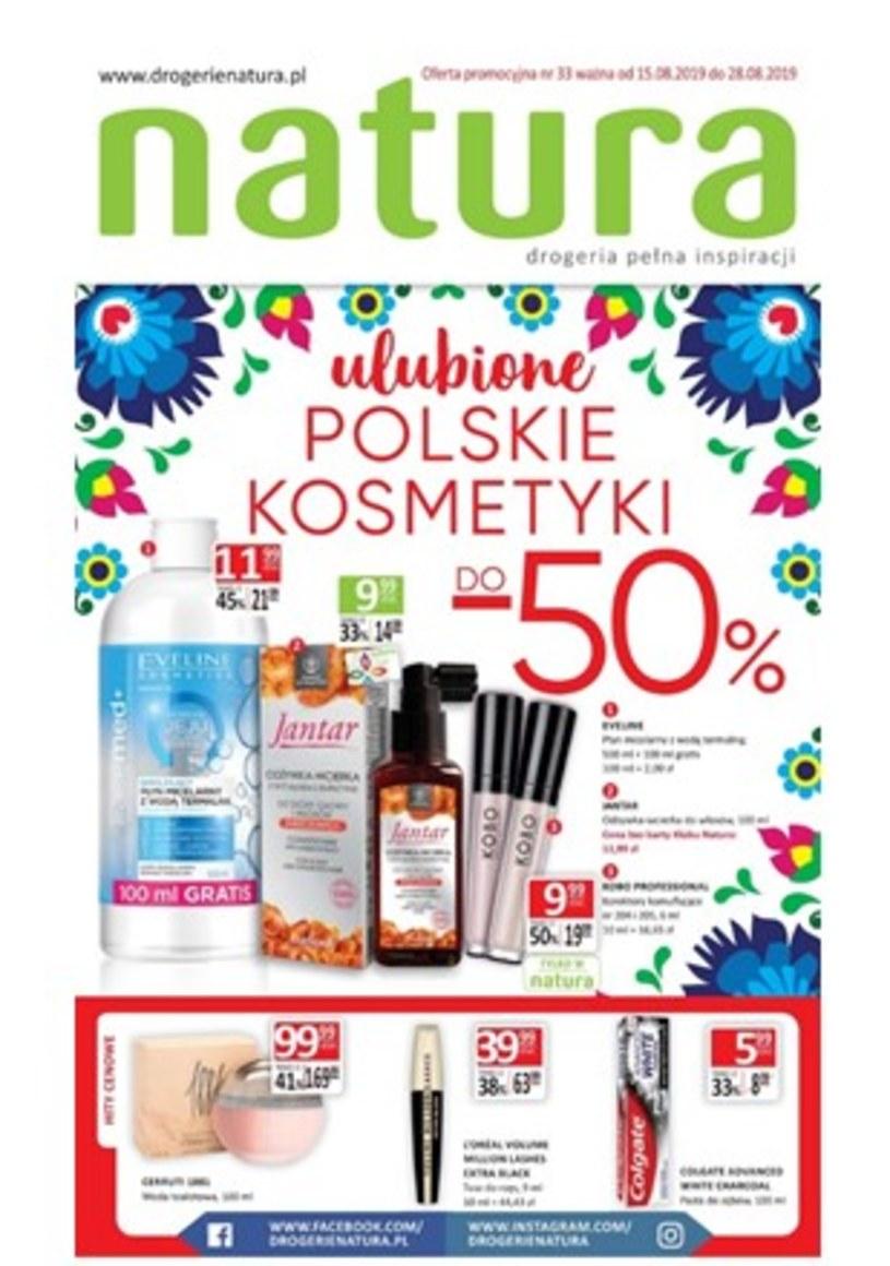 Gazetka promocyjna Drogerie Natura - ważna od 15. 08. 2019 do 28. 08. 2019