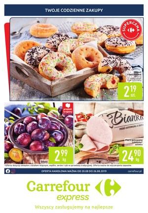 Gazetka promocyjna Carrefour Express, ważna od 20.08.2019 do 26.08.2019.