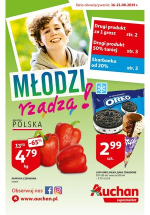 Gazetka promocyjna Auchan - Młodzi rządzą - supermarket