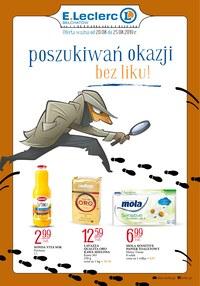 Gazetka promocyjna E.Leclerc - Poszukiwań okazji bez liku! - Bełchatów - ważna do 25-08-2019