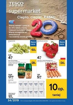 Gazetka promocyjna Tesco Supermarket, ważna od 22.08.2019 do 28.08.2019.