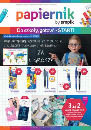Gazetka promocyjna Papiernik by Empik, ważna od 14.08.2019 do 03.09.2019.
