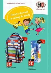 Gazetka promocyjna bi1 - Ostatni dzwonek na zakupy do szkoły!  - ważna do 07-09-2019