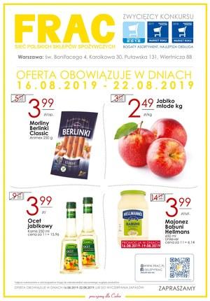 Gazetka promocyjna FRAC, ważna od 16.08.2019 do 22.08.2019.