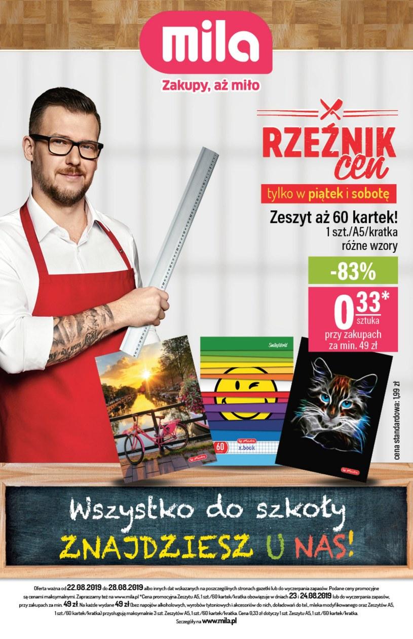 Gazetka promocyjna MILA - ważna od 22. 08. 2019 do 28. 08. 2019
