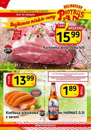 Gazetka promocyjna Piotruś Pan, ważna od 16.08.2019 do 25.08.2019.