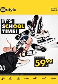 Gazetka promocyjna 50 style - It's school time! - ważna do 31-08-2019