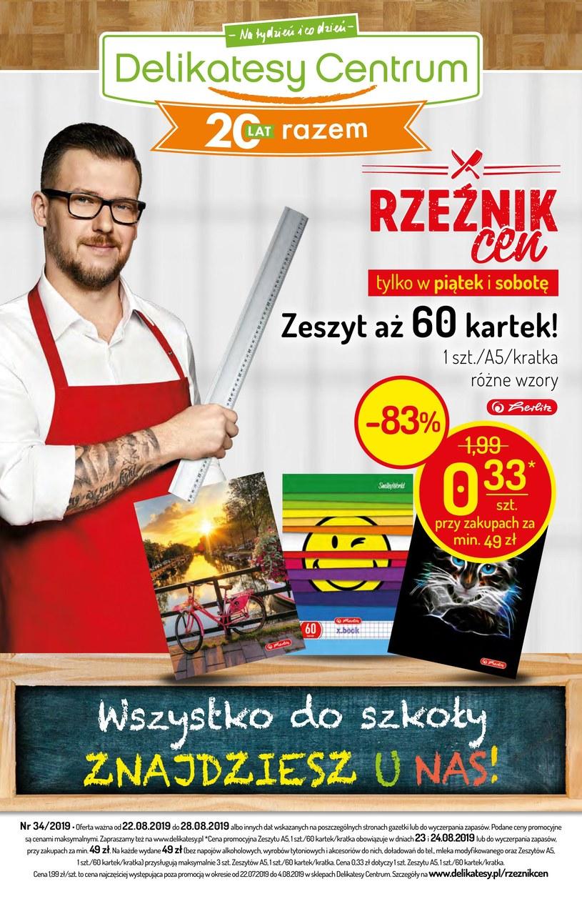 Gazetka promocyjna Delikatesy Centrum - ważna od 22. 08. 2019 do 28. 08. 2019