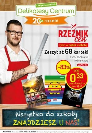 Gazetka promocyjna Delikatesy Centrum, ważna od 22.08.2019 do 28.08.2019.