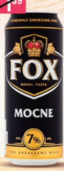 Piwo Fox niska cena