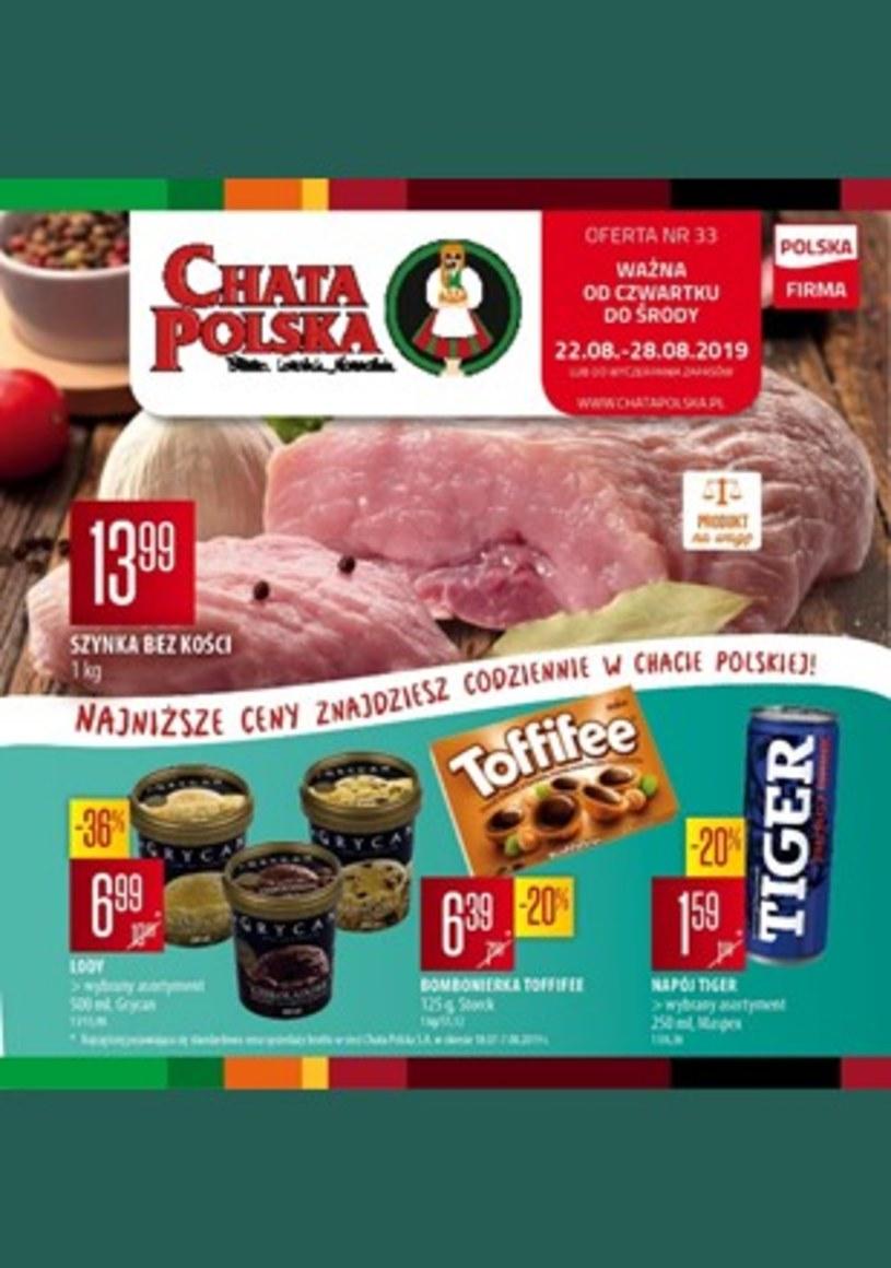 Gazetka promocyjna Chata Polska - ważna od 22. 08. 2019 do 28. 08. 2019