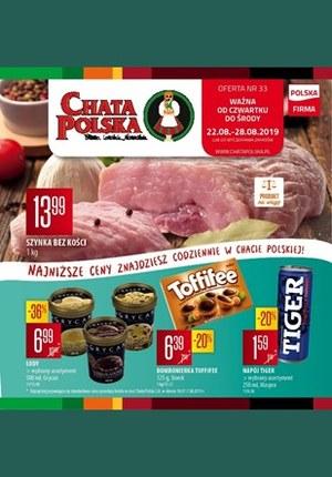 Gazetka promocyjna Chata Polska, ważna od 22.08.2019 do 28.08.2019.