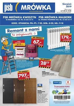 Gazetka promocyjna PSB Mrówka, ważna od 02.08.2019 do 24.08.2019.