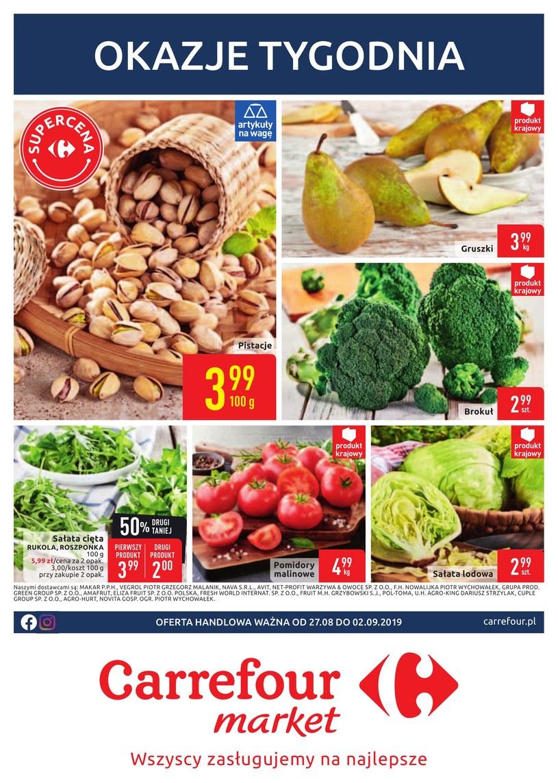 Gazetka promocyjna Carrefour Market - ważna od 27. 08. 2019 do 02. 09. 2019