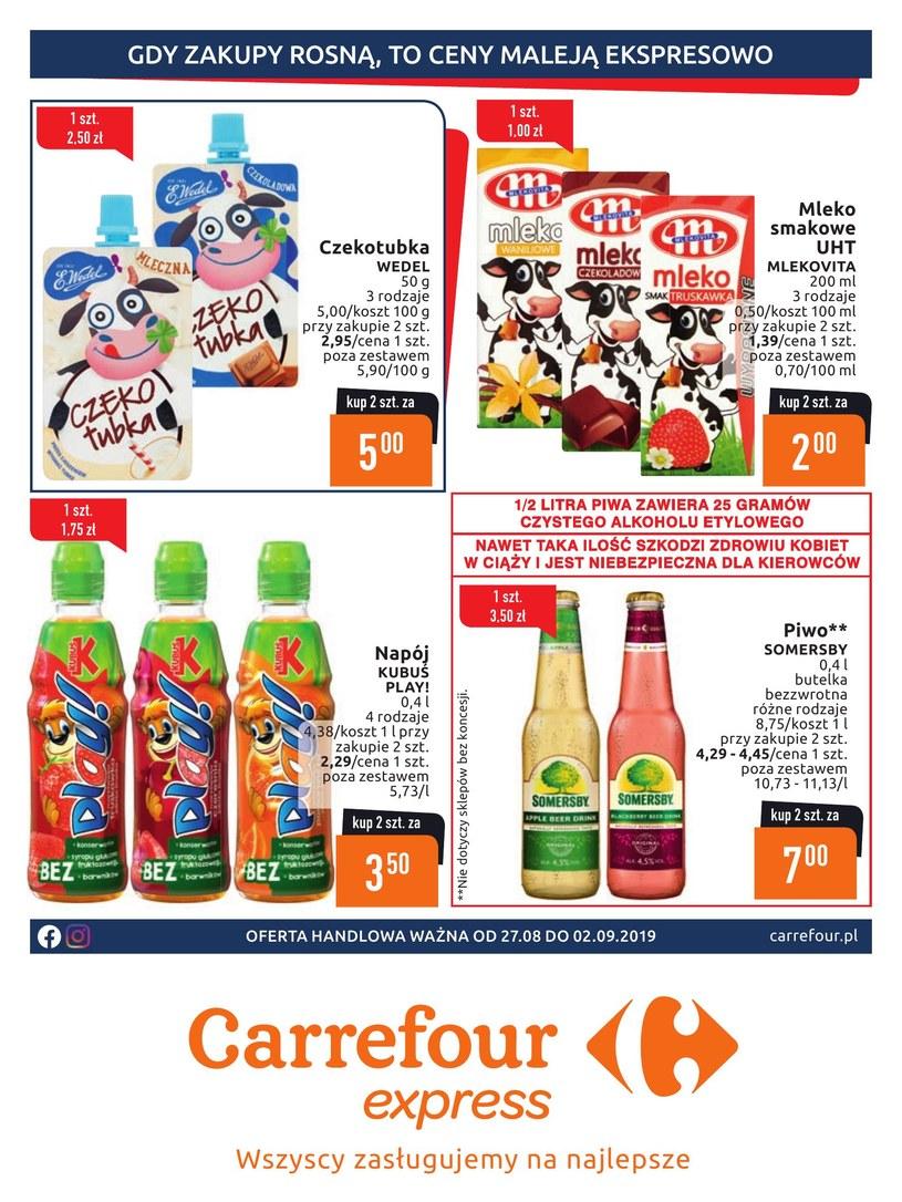 Gazetka promocyjna Carrefour Express - ważna od 27. 08. 2019 do 02. 09. 2019