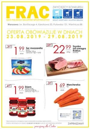 Gazetka promocyjna FRAC, ważna od 23.08.2019 do 29.08.2019.