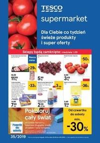 Gazetka promocyjna Tesco Supermarket - Świeże produkty i super oferty  - ważna do 04-09-2019
