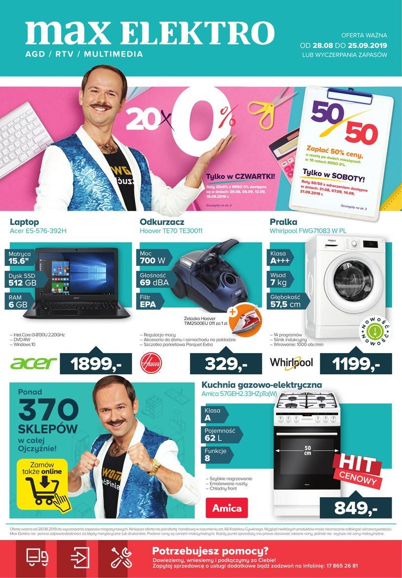 Gazetka promocyjna Max Elektro - ważna od 28. 08. 2019 do 25. 09. 2019