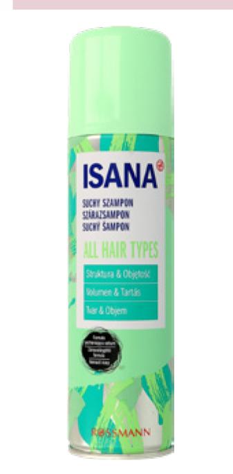 Suchy szampon do włosów Isana niska cena
