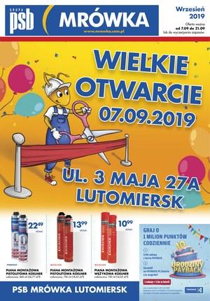 Gazetka promocyjna PSB Mrówka - Wielkie otwarcie - Lutomiersk