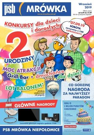 Gazetka promocyjna PSB Mrówka - urodziny - Niepołomice