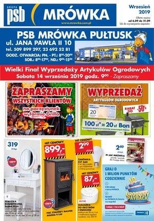 Gazetka promocyjna PSB Mrówka - Wyprzedaż - Pułtusk