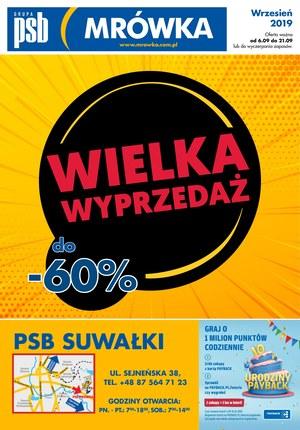 Gazetka promocyjna PSB Mrówka - Wielka wyprzedaż - Suwałki