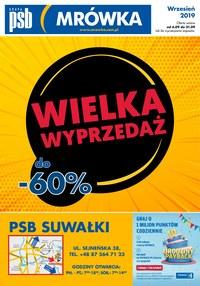 Gazetka promocyjna PSB Mrówka, ważna od 06.09.2019 do 21.09.2019.
