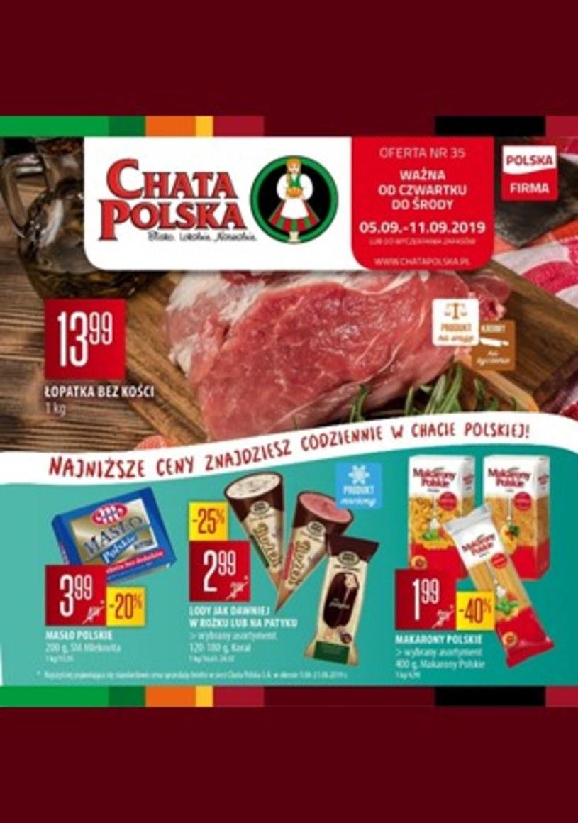 Gazetka promocyjna Chata Polska - wygasła 4 dni temu