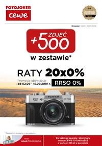 Gazetka promocyjna Fotojoker - Zdjęć +500 - ważna do 15-09-2019