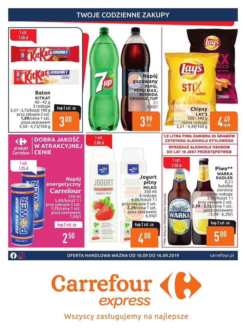 Gazetka promocyjna Carrefour Express - ważna od 10. 09. 2019 do 16. 09. 2019
