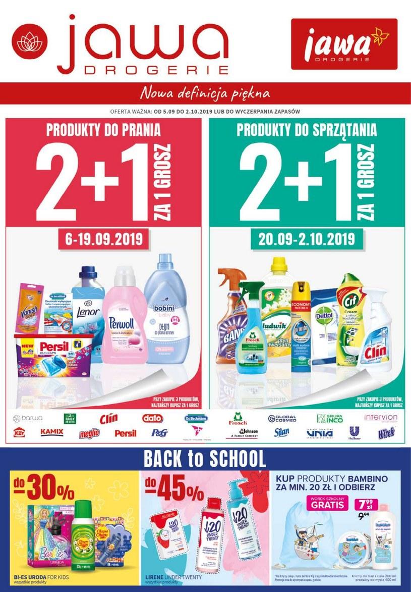 Gazetka promocyjna Jawa Drogerie - ważna od 05. 09. 2019 do 02. 10. 2019