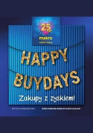Gazetka promocyjna Makro Cash&Carry - Happy Buydays