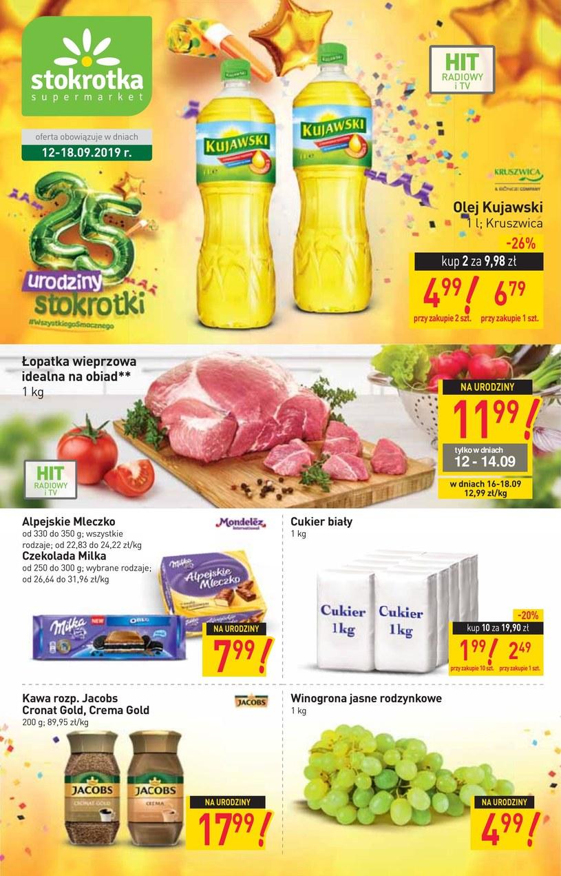 Gazetka promocyjna Stokrotka Supermarket - ważna od 12. 09. 2019 do 18. 09. 2019